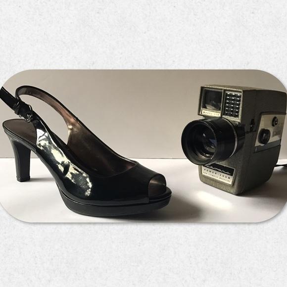 Etienne Aigner Patent Leather Slingback Pumps outlet best store to get ytNstp54